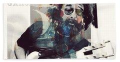 Jerry Garcia - Retro  Bath Towel