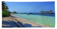 Jetty On Isla Contoy Bath Towel