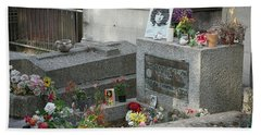 Jim Morrison's Grave Bath Towel