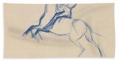 Jockey On Horseback Hand Towel