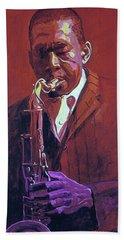 John Coltrane Bath Towel