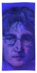 John Lennon Study In Blue Bath Towel