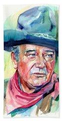 John Wayne Portrait Hand Towel