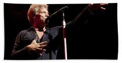 Jon Bon Jovi In Concert Bath Towel