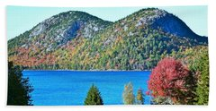 Bath Towel featuring the photograph Jordan Pond Bubbles by Patti Whitten