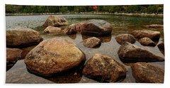 Jordon Pond Boulders Bath Towel
