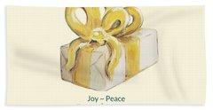 Joy, Peace And Presents Bath Towel