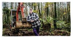 Julie Hillman - Female Gravedigger Hand Towel