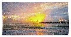 Juno Beach Pier Sunrise 2 Bath Towel