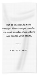 Kahlil Gibran Quote 01 - Typewriter Quote - Minimal, Modern, Classy, Sophisticated Art Prints Hand Towel