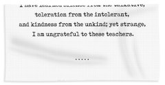 Kahlil Gibran Quote 02 - Typewriter Quote - Minimal, Modern, Classy, Sophisticated Art Prints Hand Towel