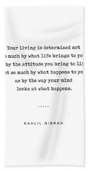 Kahlil Gibran Quote 04 - Typewriter Quote - Minimal, Modern, Classy, Sophisticated Art Prints Hand Towel