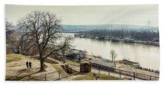 Kalemegdan Park Fortress In Belgrade Hand Towel