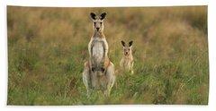 Kangaroos In The Countryside Hand Towel