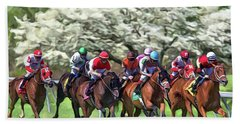 Keeneland Down The Stretch Bath Towel