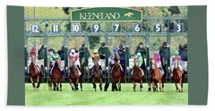 Keeneland Starting Gate Hand Towel