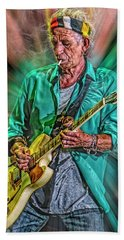 Keith Richards King Of The Riff Hand Towel