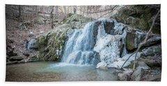 Kilgore Falls In Winter Hand Towel