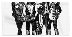 Kiss Band Black And White Watercolor 03 Bath Towel