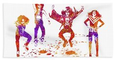 Kiss Band Watercolor Splatter 02 Bath Towel