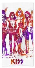 Kiss Band Watercolor Splatter 04 Bath Towel
