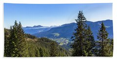 Bath Towel featuring the photograph Kleinwalsertal, Austria by Andreas Levi