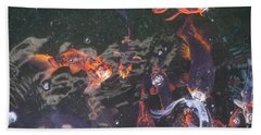 Koi In A Pond Bath Towel