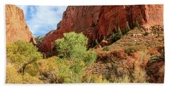 Kolob Canyon 1, Zion National Park Bath Towel