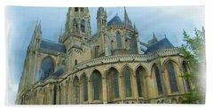 La Cathedrale De Bayeux Hand Towel