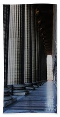 Bath Towel featuring the photograph La Colonnade De La Madeleine by Rick Locke