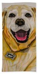 Labrador Retriever Drawing Bath Towel