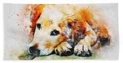 Golden Retriever Holiday Bath Towel