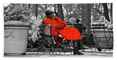Lady In Red Hand Towel