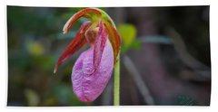 Lady Slipper Orchid Bath Towel