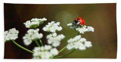 Ladybug In White Bath Towel