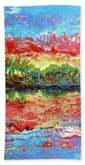 Lagoon Sunset Hand Towel