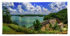 Lake Allatoona Dam Hand Towel