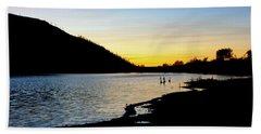 Lake Cuyamaca Sunset Hand Towel