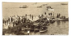Lake Hopatcong Yacht Club Dock - 1910 Bath Towel