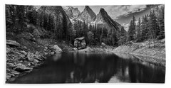 Lake In The Alps Bath Towel
