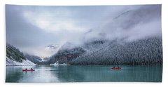 Lake Louise Canoeing Hand Towel