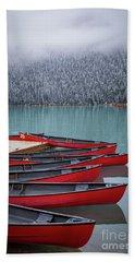 Lake Louise Canoes Hand Towel