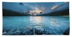 Lake Louise Morning Clouds Hand Towel