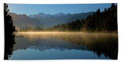 Lake Matheson Morning Bath Towel