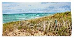 Lake Michigan Beachcombing Hand Towel