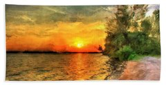 Lake Sunset Hand Towel