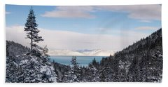 Lake Tahoe Panorama Hand Towel