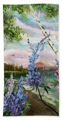 Lakeside Lupin Bath Towel