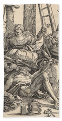 Lamentation For Christ, 1510  Hand Towel