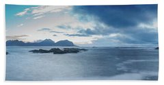 Landscape In The Lofoten Islands Hand Towel